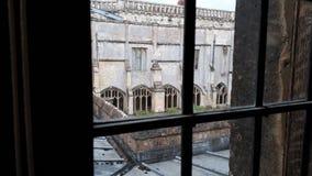 Patio de Harry Potter Hogwarts en la abadía de Lacock, Wiltshire Imagen de archivo