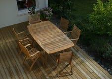 patio de jardin d'après-midi Photo libre de droits