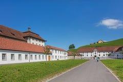 Patio de la abadía de Einsiedeln Imagenes de archivo