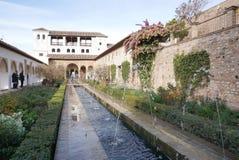 Patio de la Acequia (cour de la voie d'eau) Photo libre de droits