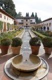 Patio de la Acequia (cour de la voie d'eau) Photos stock