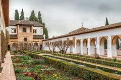 Patio de la Acequia in Generalife, Granada, Spain Stock Photos