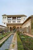 Patio DE La Acequia in Generalife, Granada, Spanje royalty-vrije stock afbeeldingen