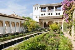 Patio de la Acequia inside the Generalife Gardens Stock Images