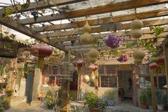 Patio de la casa del chino tradicional Imagen de archivo libre de regalías