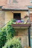 Patio de la ciudad vieja en Vilna Fotografía de archivo libre de regalías