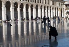 Patio de la gran mezquita de Damasco Imagenes de archivo