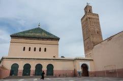 Patio de la mezquita Zaouia de Sidi Bel Abbes en Marrakesh Medina Fotografía de archivo libre de regalías