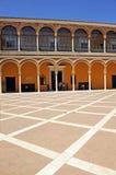 Patio de la Monteria, Alcazar königlich in Sevilla, Spanien Lizenzfreie Stockfotos
