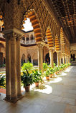 Patio de Las Doncellas, Alcazar königlich in Sevilla, Spanien Lizenzfreies Stockbild