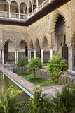 Patio de las Doncellas in Real Alcazar, Seville Royalty Free Stock Images