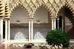 Patio de las doncellas in Reales Alcazares, Sevilla Stock Photo
