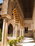 Patio de las Doncellas in Royal palace of Seville Stock Image