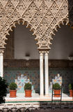 Patio de las Doncellas (Seville). Royalty Free Stock Image
