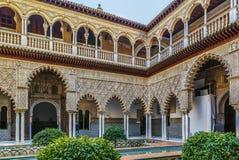 Patio de las Doncellas, Seville, Spain royalty free stock image