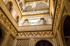 Patio de las Munecas dans l'Alcazar de Séville Photos libres de droits