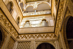 Patio de las Munecas en el Alcazar de Sevilla Fotos de archivo libres de regalías