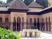 patio de leones Los στοκ εικόνες