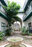 Patio of de los Arabes house at Old Havana Royalty Free Stock Photos