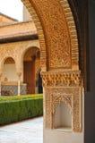 Patio de los Arrayanes,阿尔罕布拉宫宫殿在格拉纳达,西班牙 免版税图库摄影