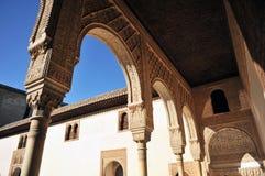 Patio de Los Arrayanes, Alhambra παλάτι στη Γρανάδα, Ισπανία Στοκ εικόνα με δικαίωμα ελεύθερης χρήσης