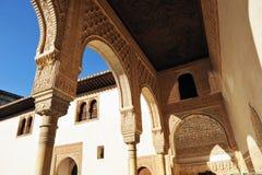 Patio de Los Arrayanes, Alhambra παλάτι στη Γρανάδα, Ισπανία Στοκ εικόνες με δικαίωμα ελεύθερης χρήσης