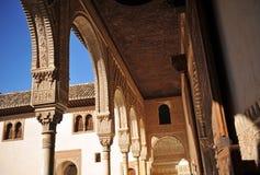 Patio de Los Arrayanes, Alhambra παλάτι στη Γρανάδα, Ισπανία Στοκ Εικόνες