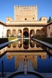 Patio de Los Arrayanes, Alhambra παλάτι στη Γρανάδα, Ισπανία Στοκ Εικόνα