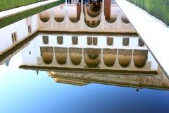 Patio DE los Arrayanes, Alhambra, Granada, Spanje stock afbeelding