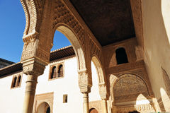 Patio de los Arrayanes, Alhambra palace in Granada, Spain Royalty Free Stock Images