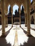 Patio de los Leones在阿尔罕布拉宫 格拉纳达西班牙 库存图片