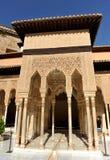 Patio de los Leones,阿尔罕布拉宫宫殿在格拉纳达,西班牙 免版税库存照片