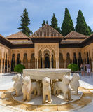 Patio de los leones in alhambra granada Royalty Free Stock Photography