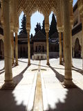 Patio de los Leones in Alhambra. Granada, Spain. Patio de los Leones in palacios Nazarios. Alhambra, Granada, Spain Stock Images