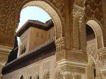 Patio de los Leones in Alhambra. Granada, Spain. Patio de los Leones in palacios Nazarios. Alhambra, Granada, Spain Stock Images