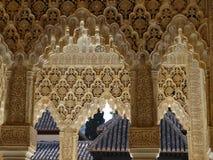 Patio de los Leones in Alhambra. Granada, Spain. Patio de los Leones in palacios Nazarios. Alhambra, Granada, Spain Stock Photography