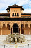 Patio de los Leones, Alhambra palace in Granada, Spain. Arab architecture, Courtyard of the Lions, named Patio de los Leones, Palace of Alhambra in Granada Stock Photos