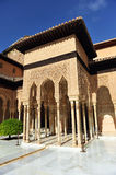Patio de los Leones, Alhambra palace in Granada, Spain. Arab architecture, Courtyard of the Lions, named Patio de los Leones, Palace of Alhambra in Granada Stock Images