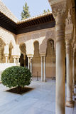 Patio de los Leones, Patio of the Lion, in the Palacios Nazaries. Alhambra, Granada, Andalucia, Spain Royalty Free Stock Image