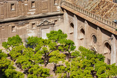 Patio de los Naranjos of Seville Cathedral Royalty Free Stock Images