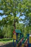 Patio de los niños al aire libre Imagenes de archivo