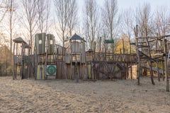 Patio de los niños en parque público Imagen de archivo libre de regalías