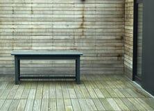 Patio de madera Fotografía de archivo