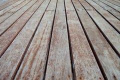 Patio de madera Imagen de archivo libre de regalías