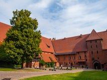 Patio de Malbork Imagen de archivo