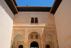 Patio de Mexuar, Alhambra Palace. Stock Photo