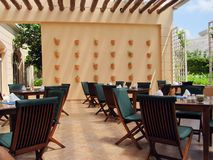 Patio de restaurant Photo stock
