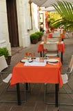 Patio de restaurant Photographie stock libre de droits