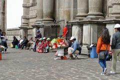 Patio de San Francisco Church, Quito, Equateur Photo stock