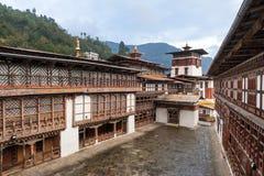 Patio de Trongsa Dzong, Bhután Imagen de archivo libre de regalías